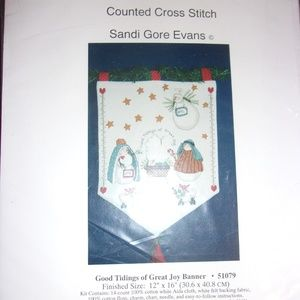 Candamar designs Holiday - Christmas Banner Counted X Stitch Kit